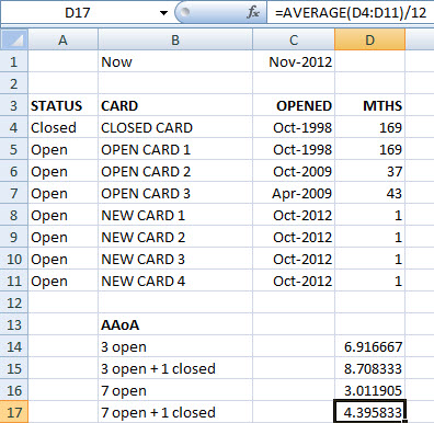 how to calculate aaoa using excel myfico forums 1674616